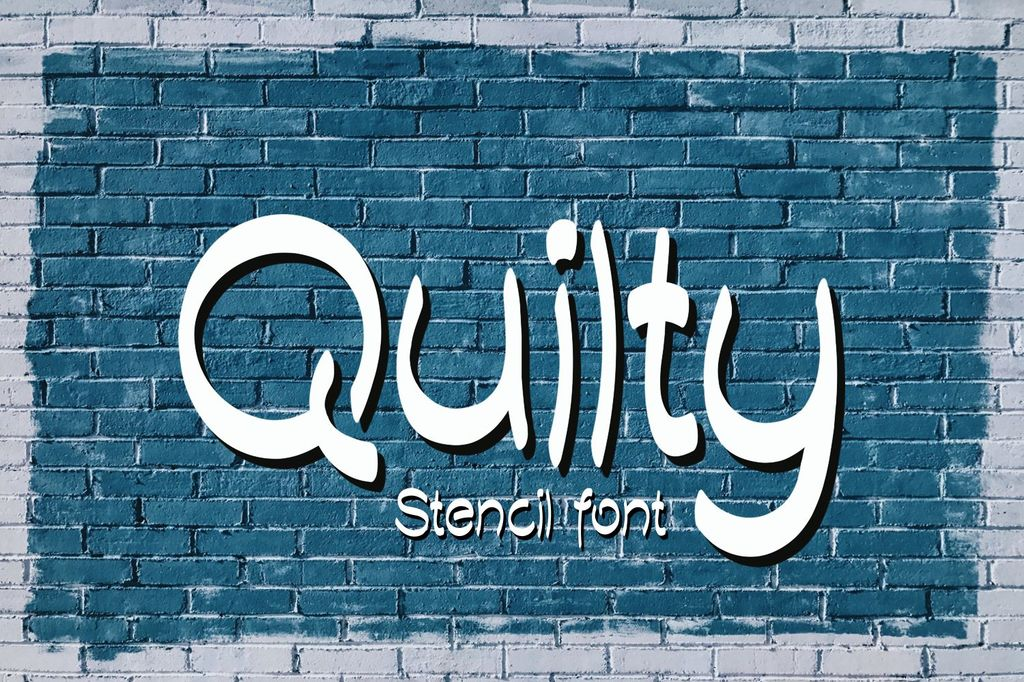 Quilty Demo Font 鋼印手繪字型下載