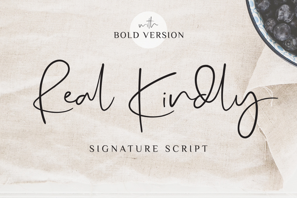 Real Kindly Font 婚禮簽名字型下載