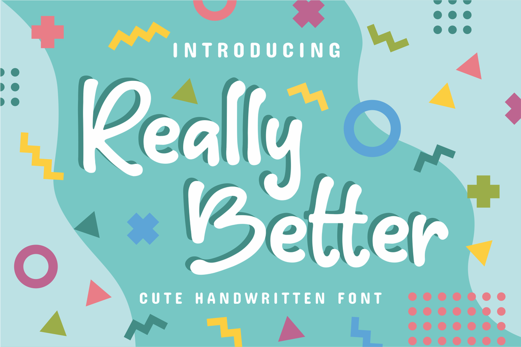 Really Better Font 少女手寫字型下載