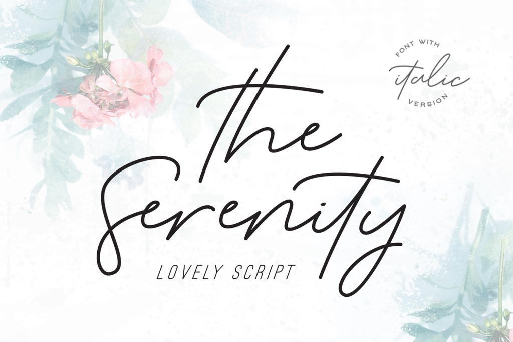 Serenity Font 唱片簽名字型下載