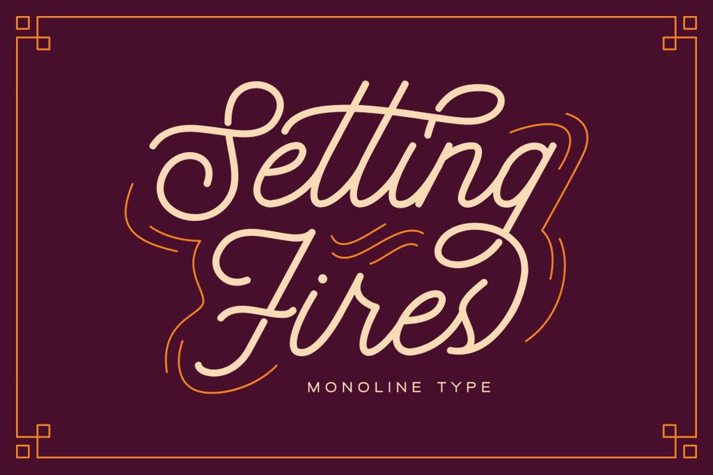 Setting Fires Font 優雅字型下載