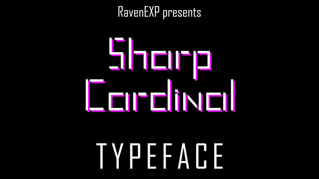 Sharp Cardinal Font 可愛拼接字型下載