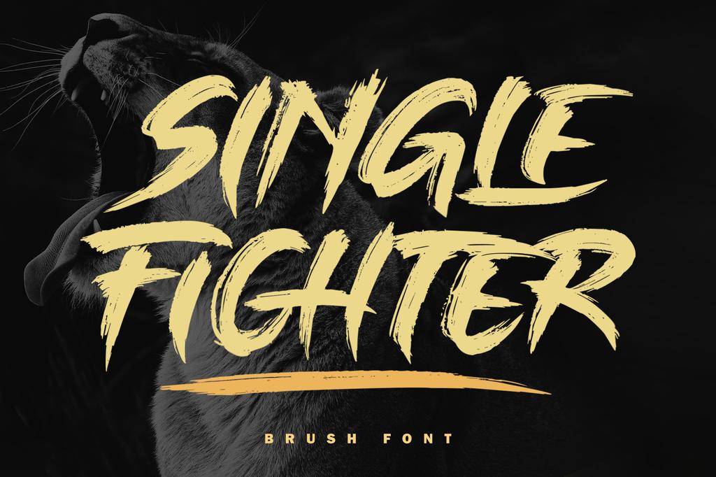 SINGLE FIGHTER Font 英文毛筆字型下載