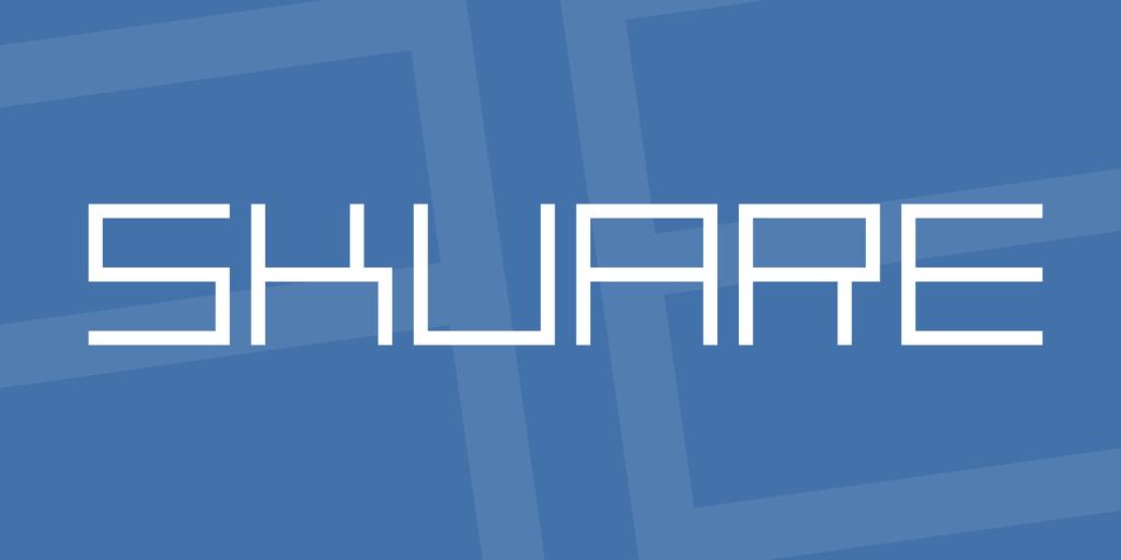 skuare Font 簡約設計字型下載