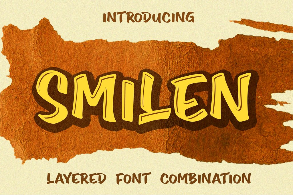 Smilen Font 3D塗鴉字型下載