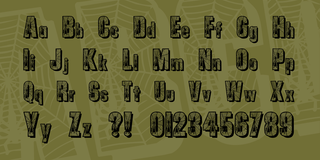 Spiders Font 蜘蛛網字型下載