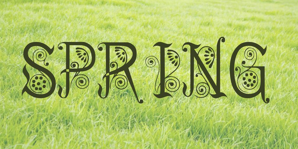 Spring Font 復古春天字型下載
