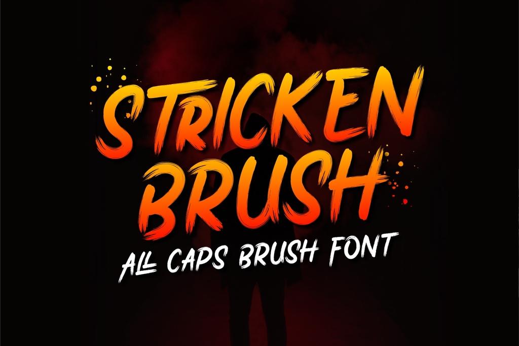 Stricken Brush Font 油漆筆刷字型下載
