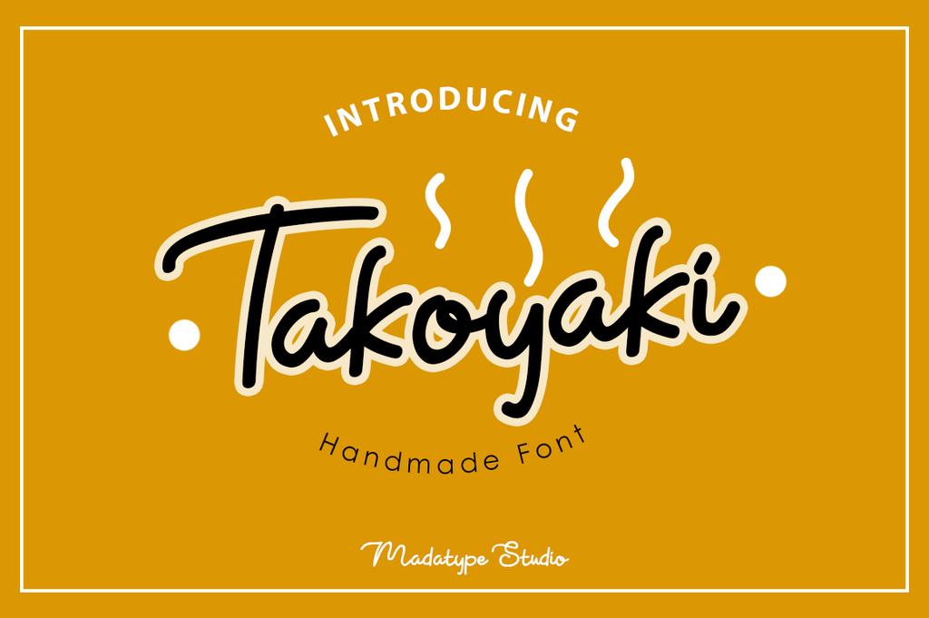 Takoyaki Font 麥克筆字型下載