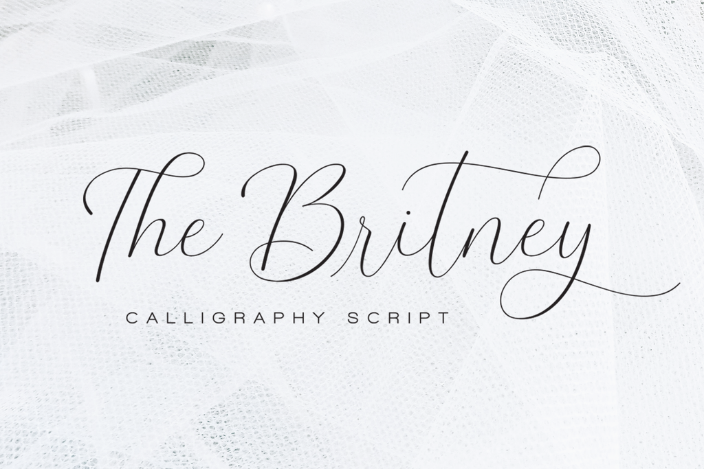 The Britney Font 結婚字型下載