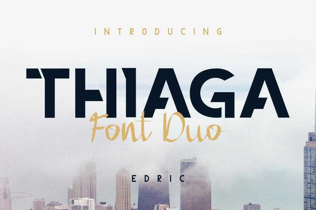 THIAGA Font Family 創意拼接字型下載