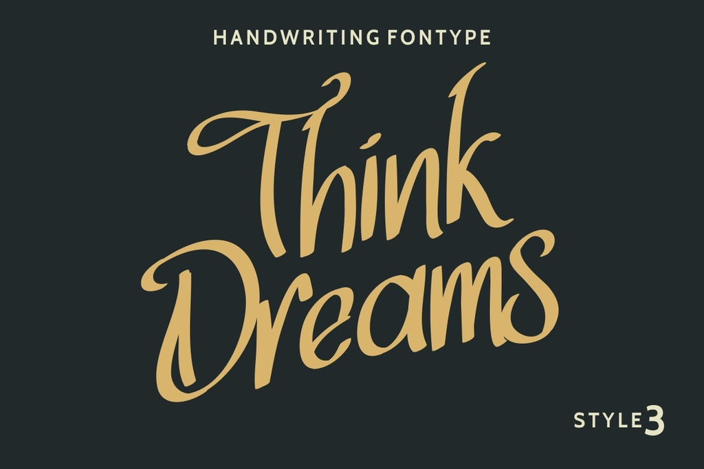 Think Dreams Font Family 奇異筆字型下載