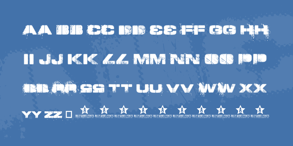 TOY SOLDIERS Font 英文鋼印字型下載