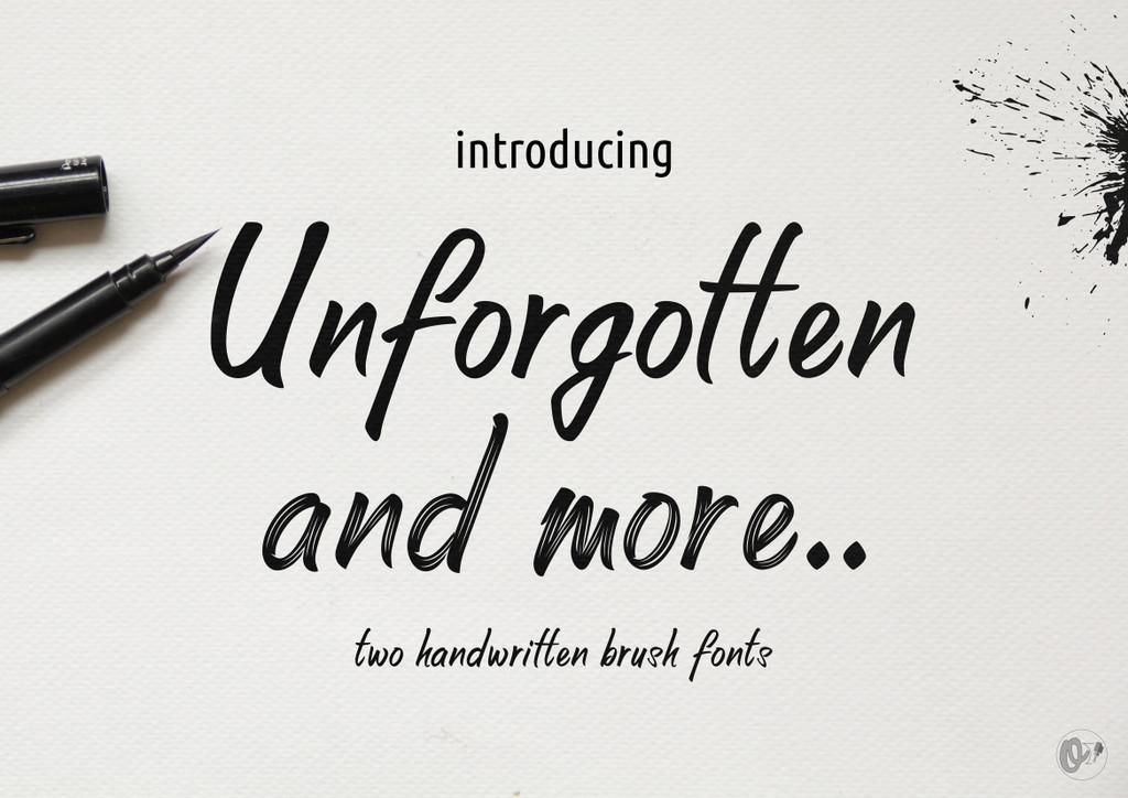 Unforgotten Font 墨水字型下載