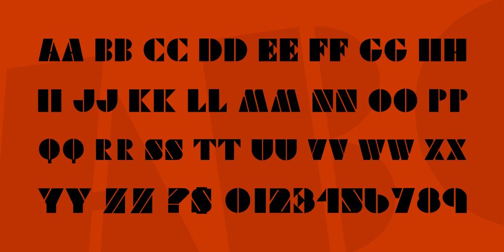Viking Stencil Font 明星標題字型下載
