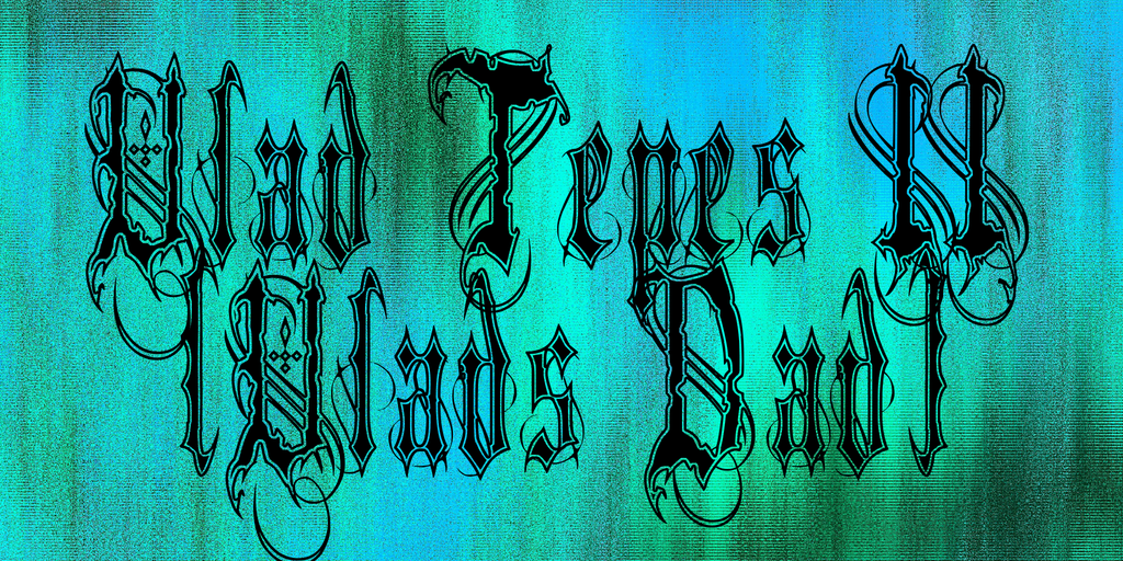 Vlad Tepes II (Vlads Dad) Font 可怕刺青字型下載