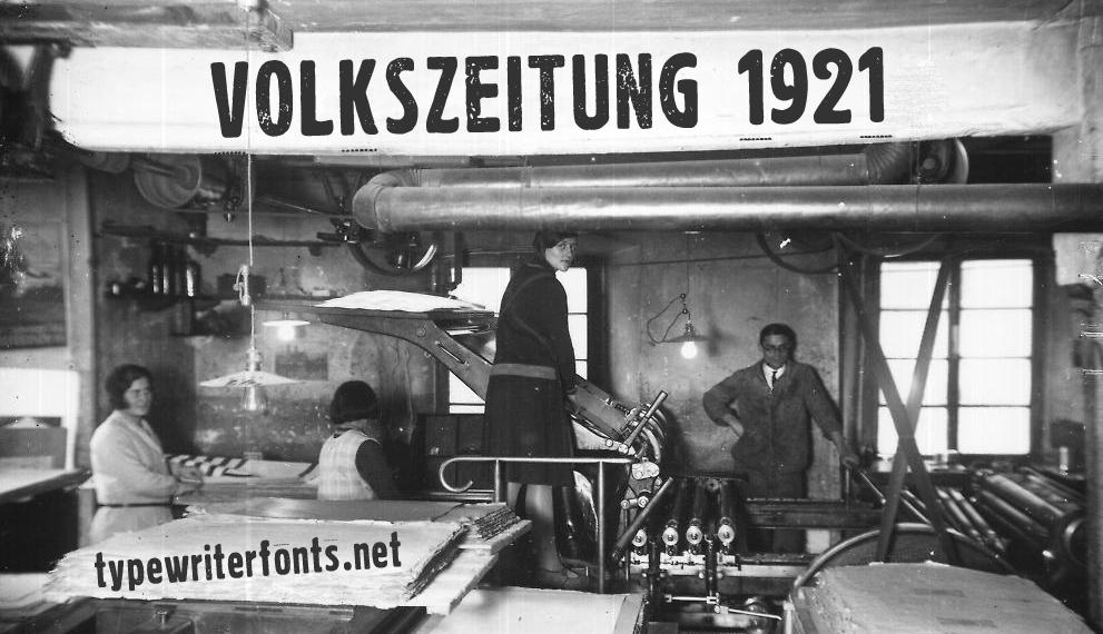 Volkszeitung 21 Font 報紙印刷字型下載