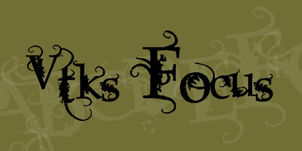 Vtks Focus Font 花邊裝飾字型下載 字型下載