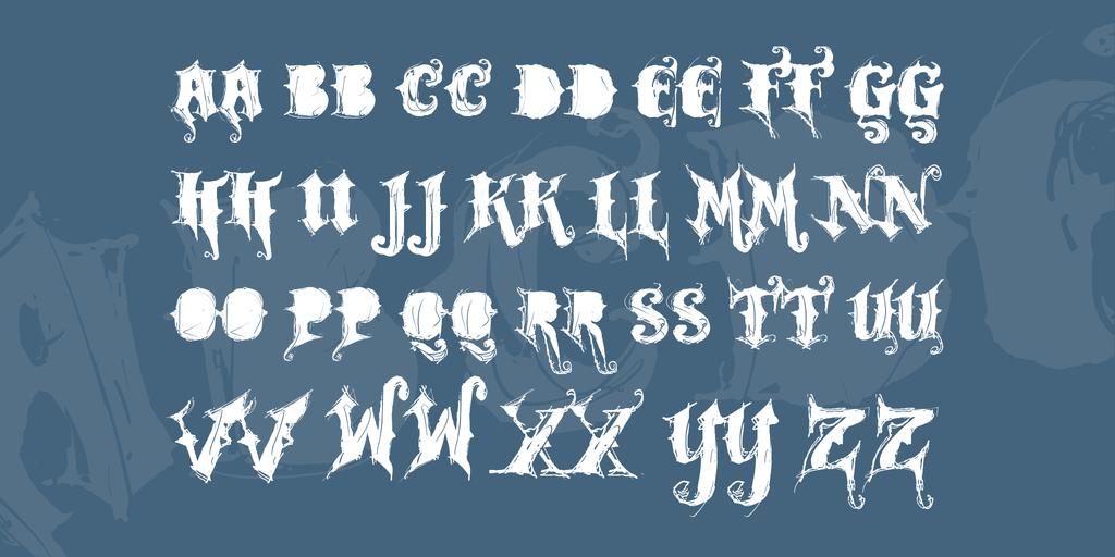VTKS ROCK GARAGE BAND Font 搖滾重金屬字型下載