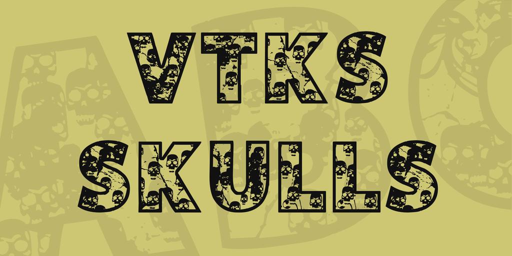 VTKS SKULLS Font 萬聖節標題字型下載