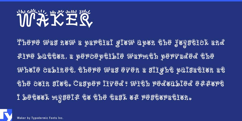 Waker Font 可愛美食字型下載