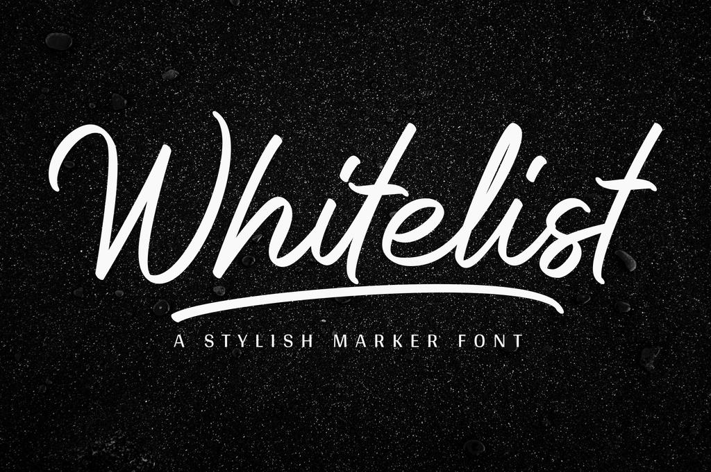 Whitelist Font 手寫時尚字型下載