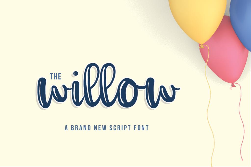 Willow Script Font 手繪海報字型下載