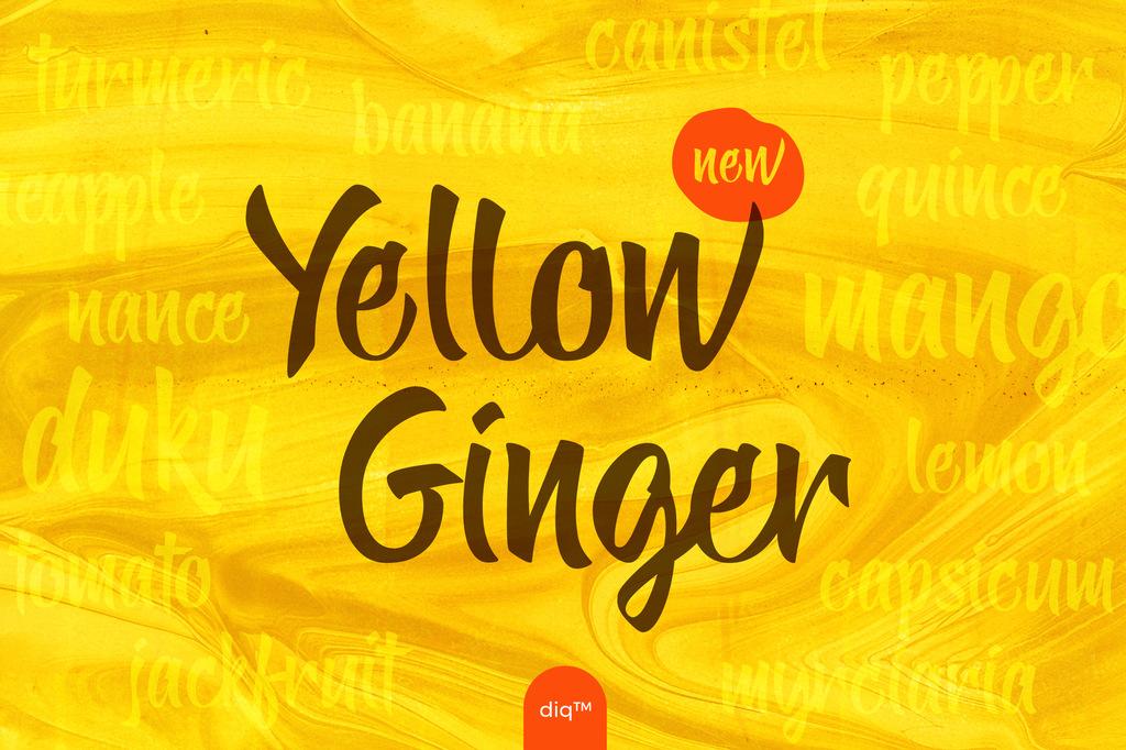 Yellow Ginger Font 美食封面字型下載