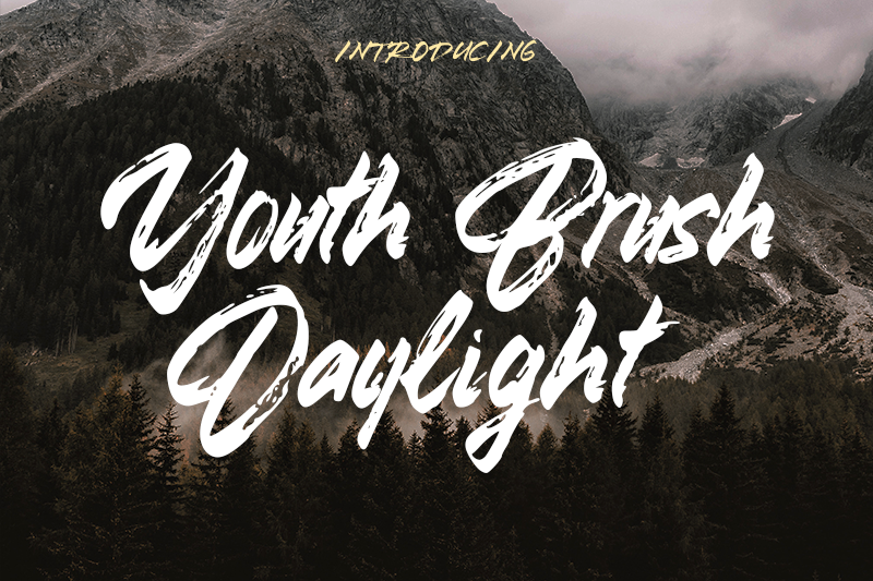 Youth Brush Daylight Font 商標品牌字型下載