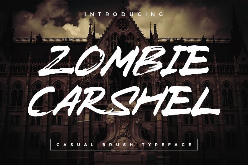 Zombie Carshel Font 萬聖節塗鴉字型下載