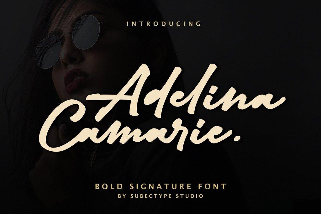 Adelina Camarie Font 音樂海報字型下載 字型下載
