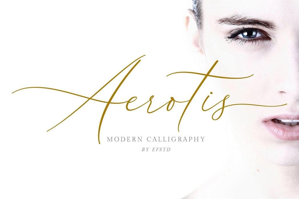 Aerotis Font 設計師草寫字型下載
