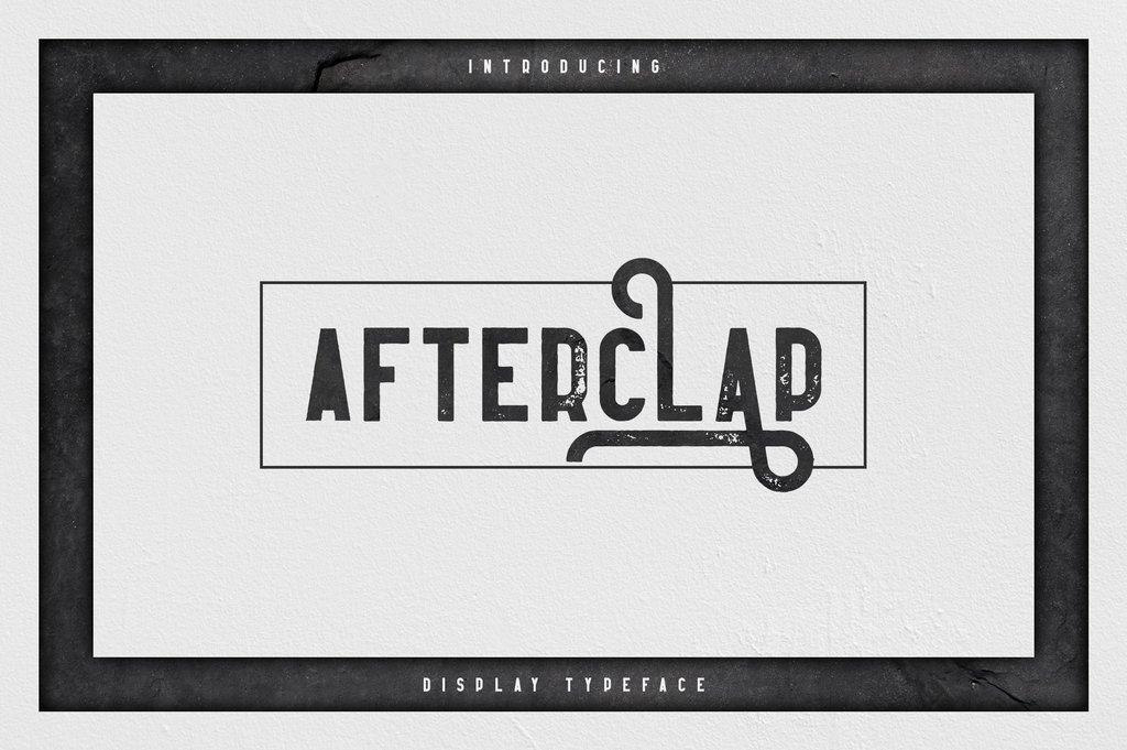 Afterclap Font 產品設計字型下載
