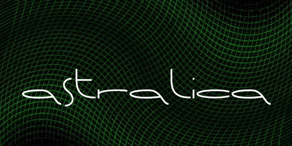 Astralica Font 科幻蚯蚓字型下載