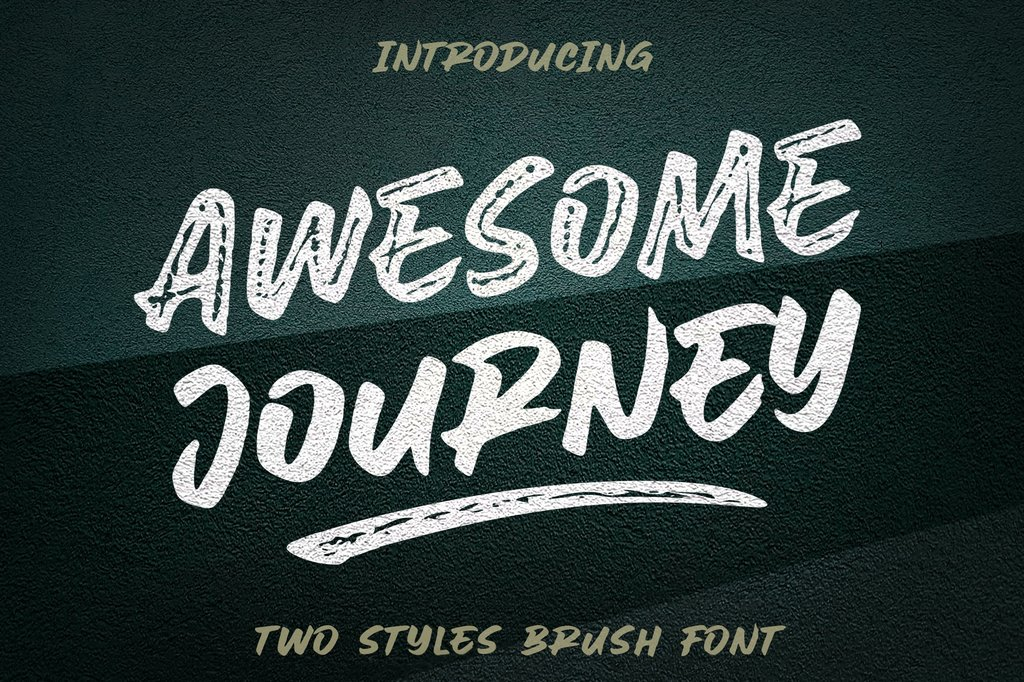AweSomE JouRneY Font 潮流品牌字型下載