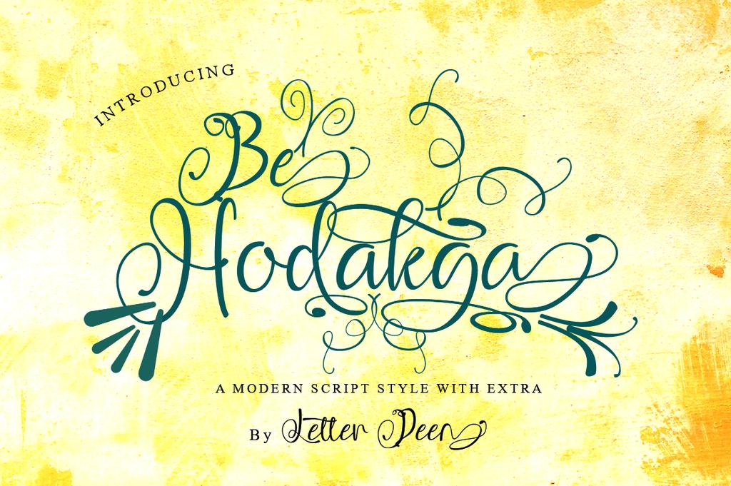 Be Hodakga Font 流暢手寫字型下載