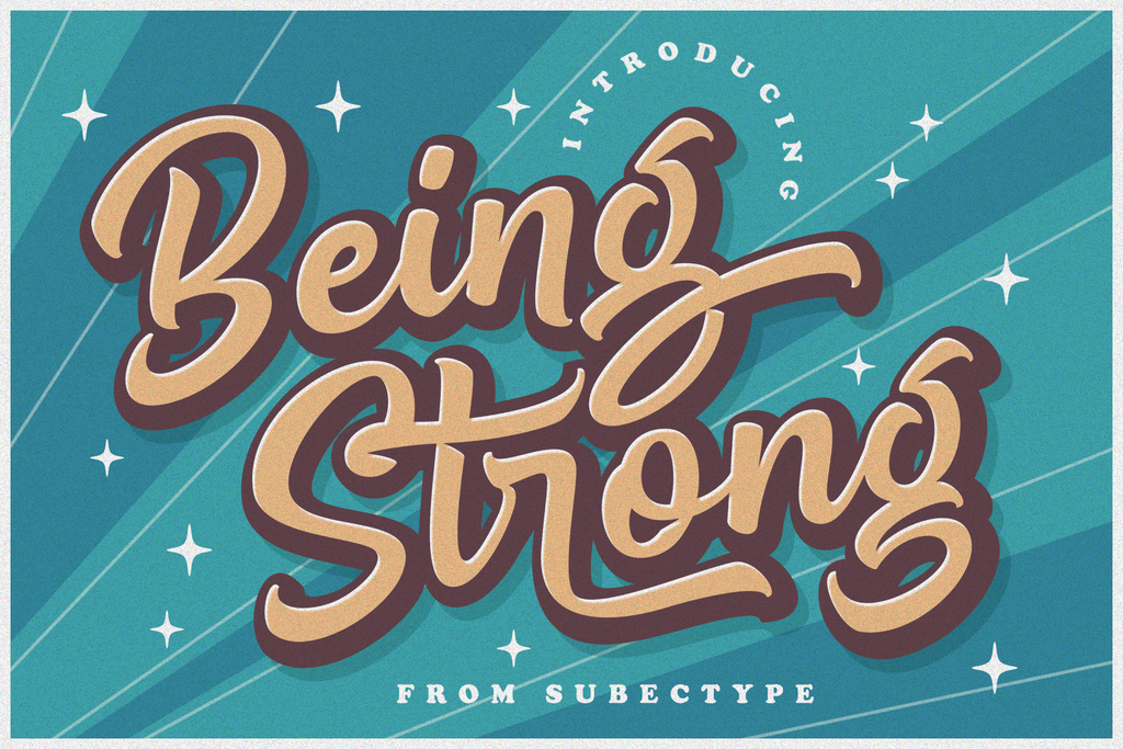 Be Strong Font 英文POP字型下載