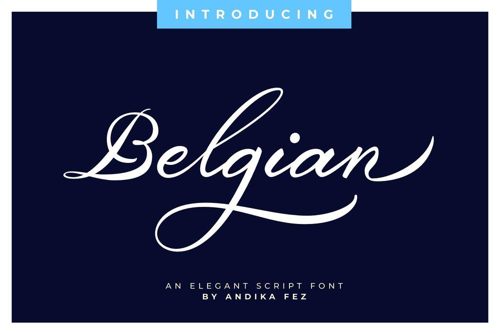 Belgiansignature Font 草書簽名字型下載