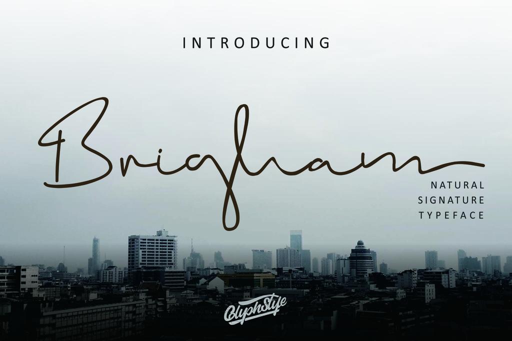 Brigham Font 照片簽名字型下載