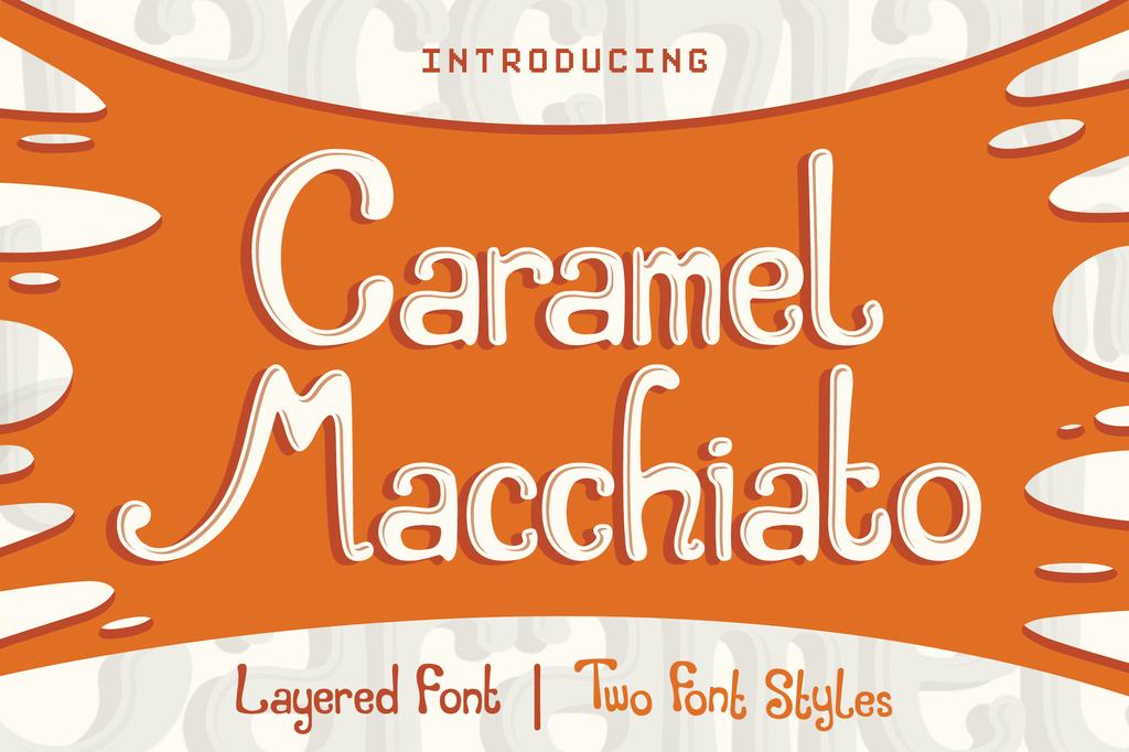 Caramel Macchiato Bouncy Font 咖啡店字型下載