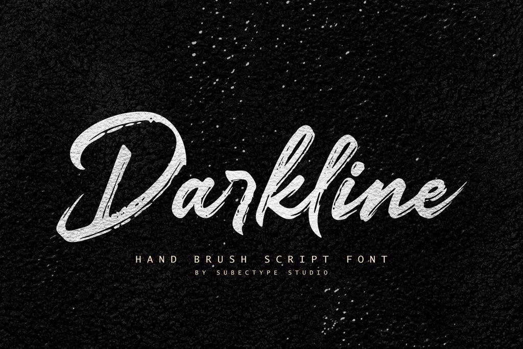 Darkline Font 英文傳單字型下載