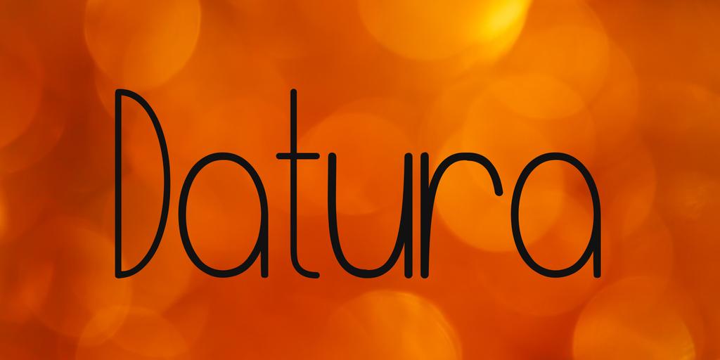 Datura Font 浪漫英文字型下載