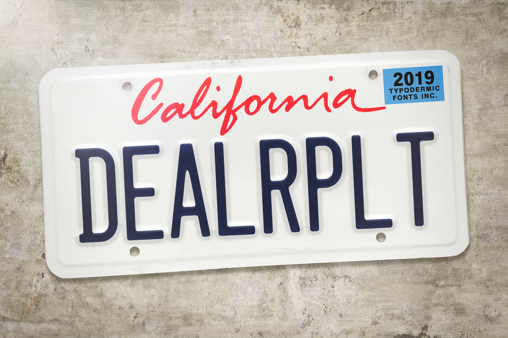 Dealerplate Font 美式車牌字型下載