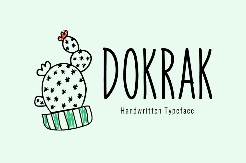 Dokrak Font 筆記本字型下載
