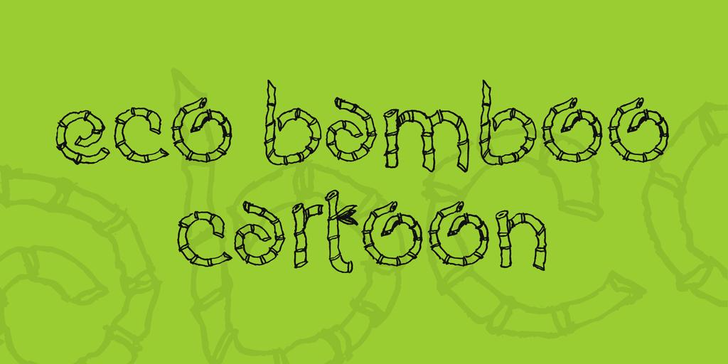 Eco Bamboo Cartoon Font 3D竹子字型下載