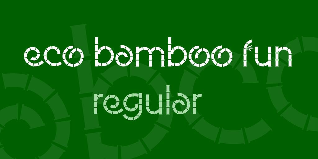 Eco Bamboo Fun Font 竹子熊貓字型下載