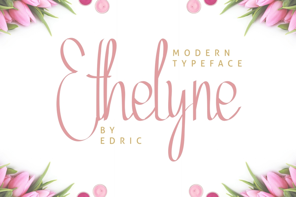 Ethelyne Font Family 現代手寫字型下載
