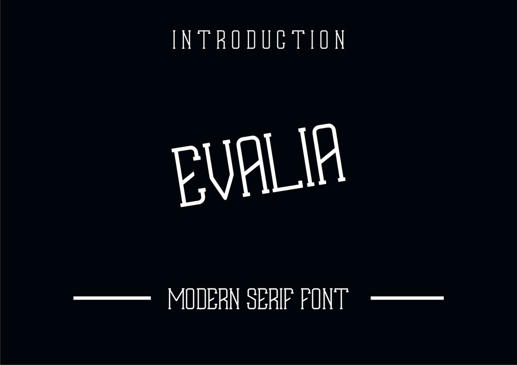EVALIA Font 可愛邊框字型下載
