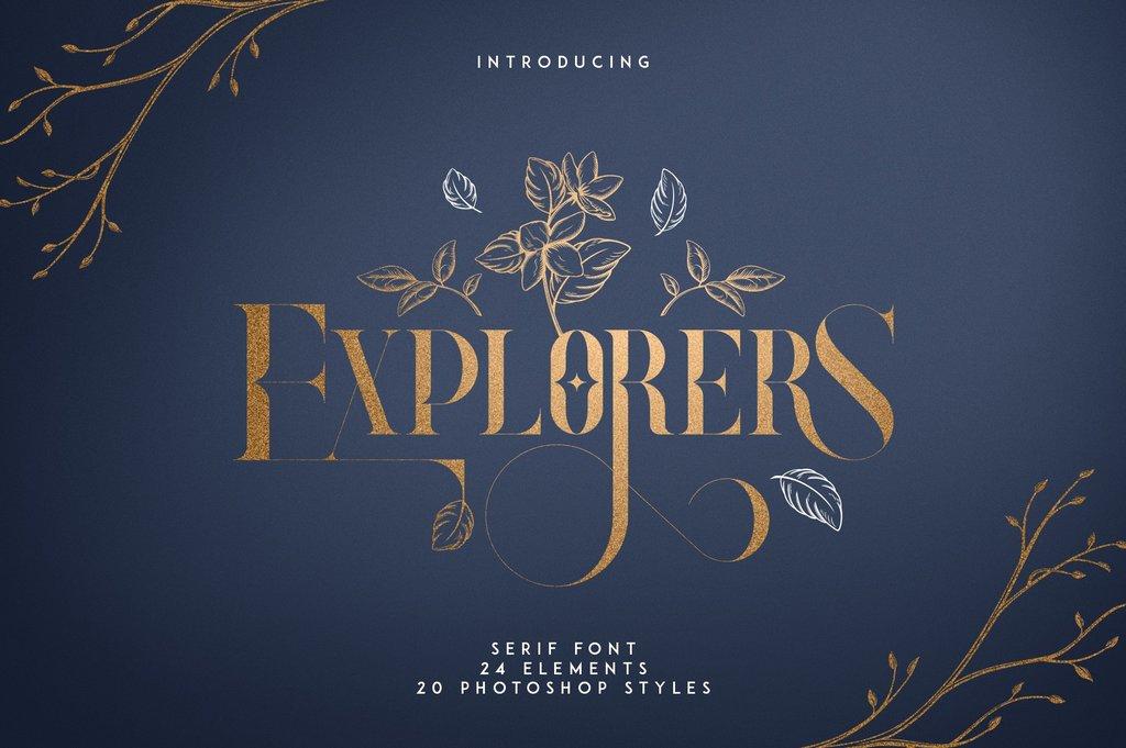 Explorers Font 古典奢華字型下載