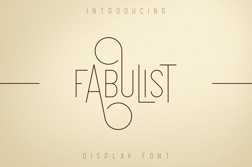 Fabulist Font 超細簡約字型下載